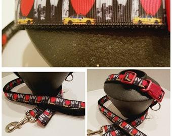 New York Dog Collar - New York Dog Leash - Gift for a Dog Mom - Dog Collar - Gift for a New Yorker - Dog Gift