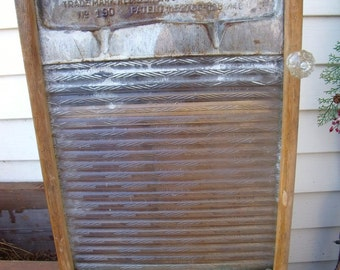 """My True ResCue Story-UNwanted, """"Soap Saver"""" Very RaRe GLASS WASHBOARD REcycLed to a WaLL CABINET-w/ old glass knob-Great MedIcine Cabinet"""