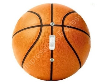 Orange Basketball Single Toggle Switch Plate Cover