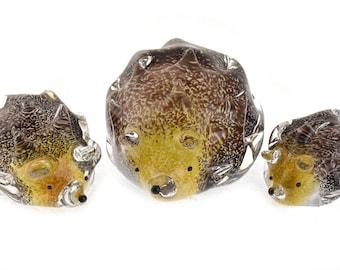 Studio Art Glass Hedgehogs
