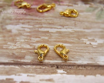 20 pcs - Gold Plated - Lobster Clasps - Jewelry Clasps - Bracelet Clasps - Necklace Clasps - Jewelry Findings - Jewelry Supplies - F0020
