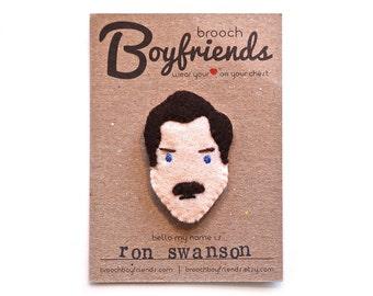 Ron Swanson Brooch