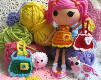 Crochet Pattern for Lalaloopsy Doll Clothes Happy Baking Apron PDF Instant Download