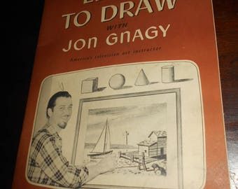 1950s Learn to Draw with Jon Gnagy, America's Television Art Instructor