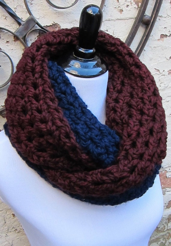Crochet Kit For Beginners Diy Scarf Kit Includes Two Tone Chunky