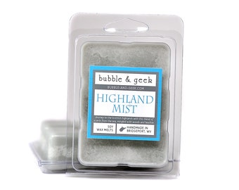 Highland Mist Scented Soy Wax Melts - Scotland, woods, heather, sea