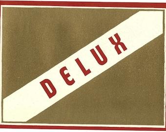 Delux Vintage Lithograph Broom Label,