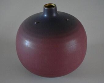 Flower vase for ikebana, medium sized Japanese flower arrangement hana-ire, Tachikichi brand, stamped