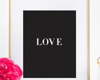 Inspiring Love Quotes Typography Poster Home Decor Office Wall Print