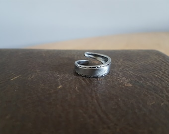 "Stainless Steel Wrapped Spoon Ring ""Community"""