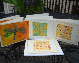 Set of 6 Quilted Notecards