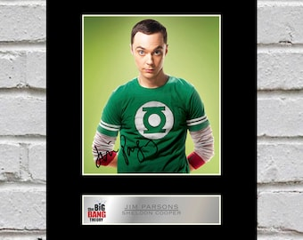 Jim Parsons Sheldon Cooper 10x8 Mounted Signed Photo Print The Big Bang Theory