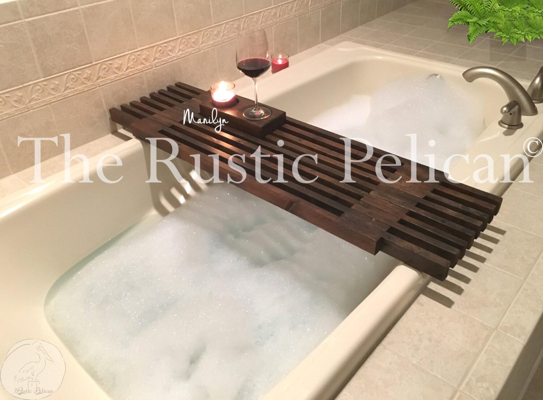 Shower caddy Bath Tray Bath Caddy Wooden Bath caddy