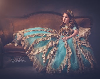 Story Of A Girl... A Stunning Vintage Flower Girl/Special Occasion Gown