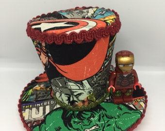 Super Hero Mini Top Hat Fascinator