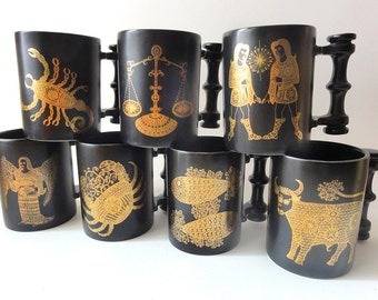 Vintage Zodiac Horoscope Mug Portmeirion Pottery Pisces ONLY
