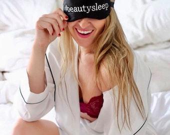Hashtag Beauty Sleep eye mask • Adjustable sleep mask • Slumber party favor • Bachelorette party favor • Personalized Custom hashtag