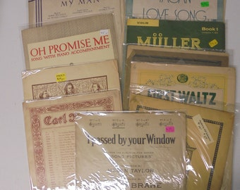 Early 20th Century Sheet Music- set 1