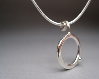 Sterling Silver Circle Dot Necklace