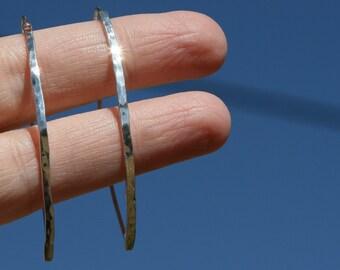 Handmade Hammered Sterling Silver Loop Earrings