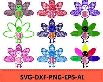 60 % OFF, Turkey SVG cut files, Turkey Monogram svg, Thanksgiving svg,  svg, png, eps, dxf, Turkey Patterns svg, Turkey Clipart