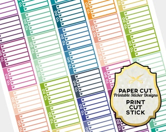 TO DO CHECKLIST - Printable Pdf Planner Stickers (Perfect for Erin Condren Life Planner)