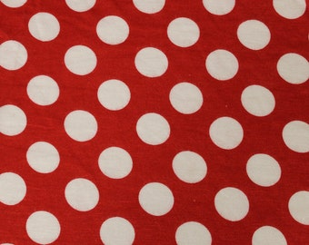 Red White Polka Dot Jersey Knit Fabric Style 6736