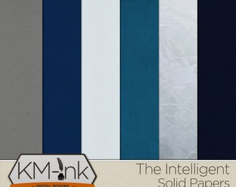 Digital Scrapbook Solid Paper Pack: The Intelligent Collection