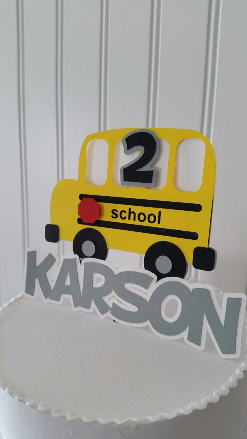 Yellow School Bus Cake Topper Yellow School Bus Cake School Bus