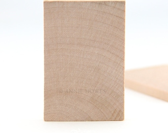 Large Wood Rectangles. 1.5 in x 2.25 in. 25 Pack.