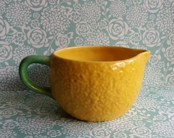 1960's Carlton Ware Lemon Jug or Creamer - Novelty Shape - Lemon Peel Texture - Housewarming Gift