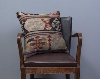 Paypal, Turkish kilim pillow, Decorative pillow, Vintage, Cushion cover, Area pillow, Boho pillow, Kilim rug pillow, 20x20 inches, 50x50 cm