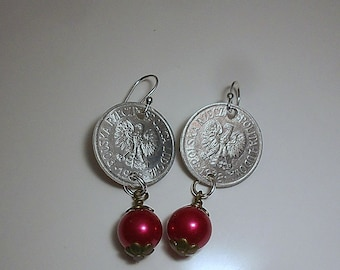 Poland Vintage Coin Earrings