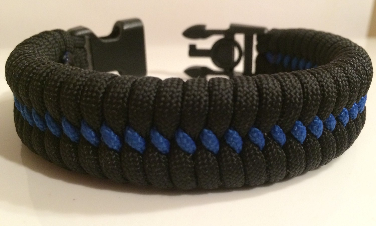 bracelet lrg line ribbon thin wide blue thickthinblueline