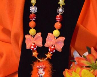 Jessie Toy Story Bubble Gum Necklace, Jessie Cowgirl Necklace, Jessie Chunky Bubble Gum  Necklace