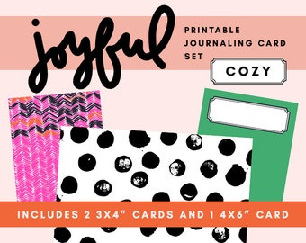 Joyful Printable Journaling Card Set - Cozy