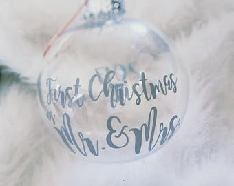 Newlywed First Christmas Ornament - Wedding Gift