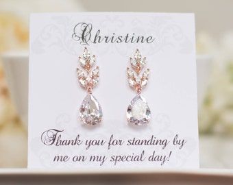 Bridesmaid Earrings | Bridesmaid Gifts | Rose Gold Earrings | Bridal Earrings | Dangle Earrings | Weddings