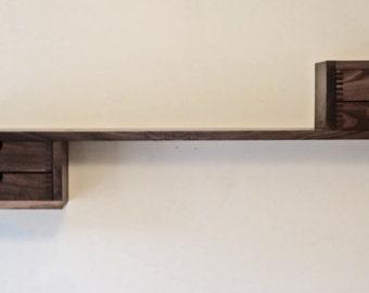 Modern Walnut Floating Shelf