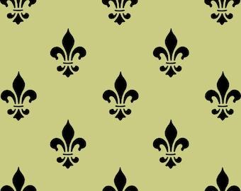 STENCIL Fleur de lis Wall Paper Background
