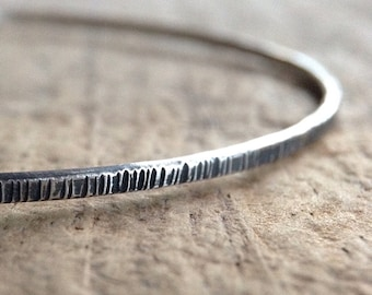 Antique Silver Tree Bangle, Sterling Silver Bracelet, Stackable Bangle, Stacking Bracelet, Boho Bracelet, Bohemian Jewelry