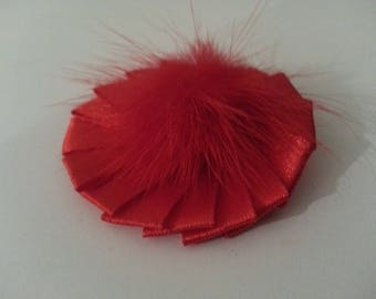 1 applique satin ribbon and Red tassel