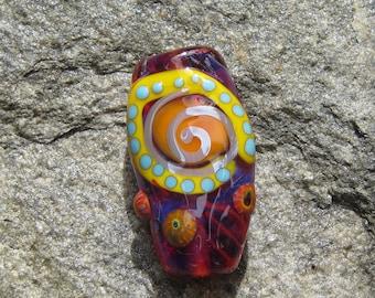 Energy Focal lampwork bead Colorful large bead- SRA- Lisa New Design