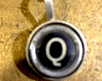 Q Typewriter Key Pendant