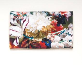 Floral clutch purse, print flowers clutch bag, peony clutch, beige clutch, bridesmaid clutch, wedding clutch, designer purse, evening clutch