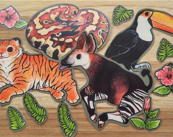 Jungle Critter Vinyl Sticker Pack