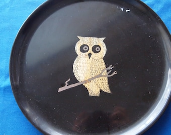 Couroc Mid-Century Owl Plate
