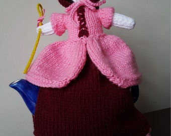 Hand knitted Little Bo Peep Tea Cosy