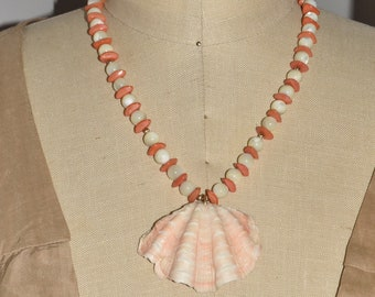 Natural Sea Shell and Mother Of Pearl Beaded Necklace Summer Jewelry