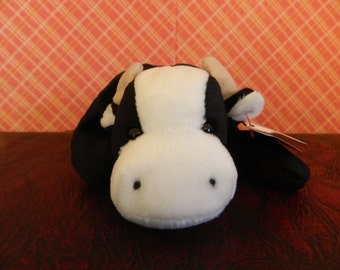 """TY Black And White Cow Beanie Baby """"Daisy"""" (B)"""
